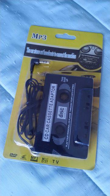 Adaptador de leitor de cassetes automóvel para audio jack