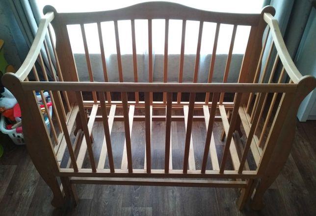 Детская кроватка деревянная, ручной работы  60х120