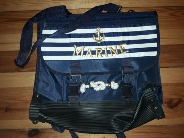 Torebka torba plecak tornister multi wielofunkcyjna motyw MARINE Nowa