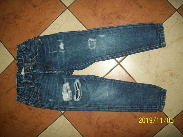 ZARA spodnie jeans slim rurki rozm 110