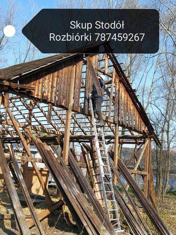 Skup starego drewna stodół desek rozbiórka stodoła rozbiórki wyburzeni