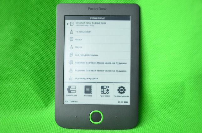 Электронная книга PocketBook 614 Читает все форматы книг даже PDF