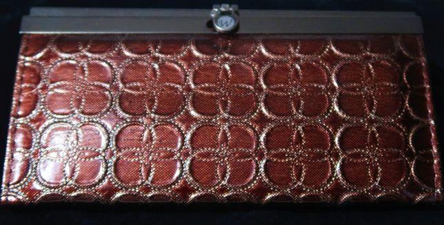 nowy, elegancki portfel z wieloma przegródkami, na prezent