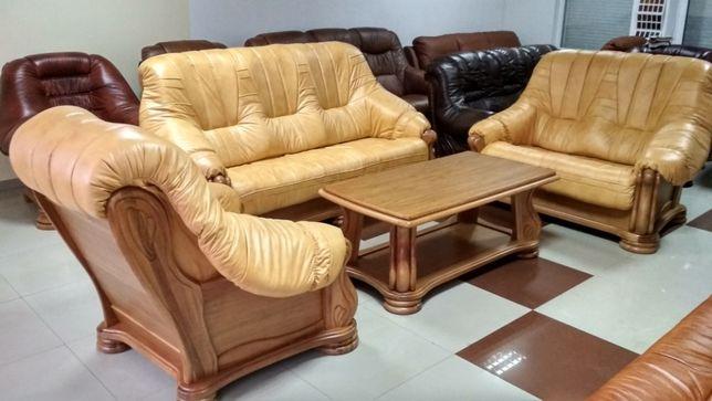 Новый кожаный диваны и кресло Merc 3+2+1, Кожаная мебель с Европы