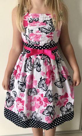 Sukienka wyjsciowa z blyszczacymi motylami 6 lat