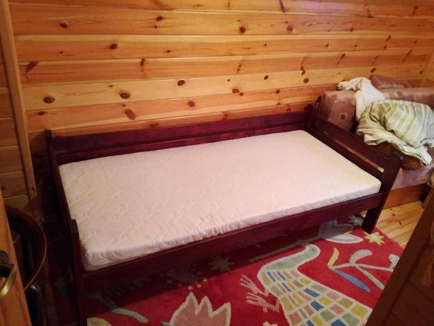 Łóżko dziecięce drewno - barierka, materac oryginalny lub kieszeniowy