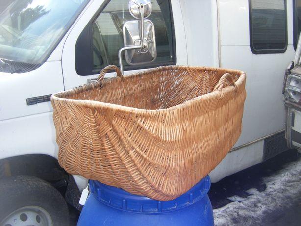 Duzy kosz z wikliny dla domu lub do ogrodu