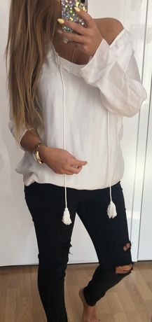 Biała bluzka nowa ! Rozmiar uniwersalny !