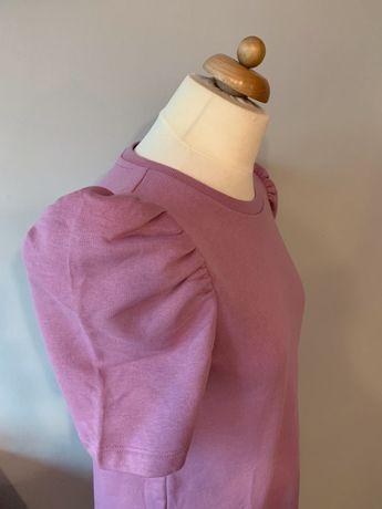 Śliczna nowa sukienka Zara z bufiastymi rękawami rozmiar M