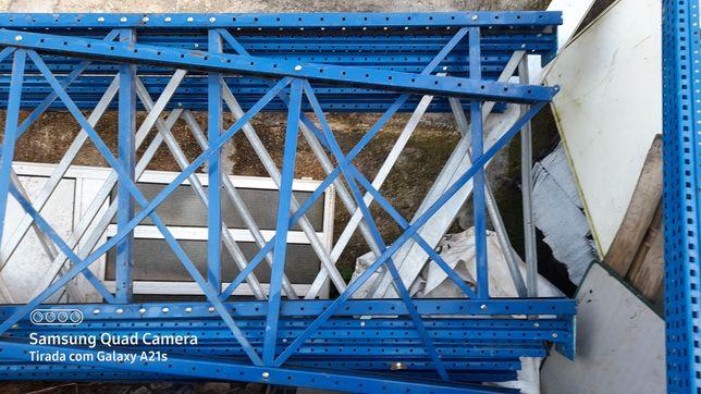 Estantes metalicas prateleiras carga pesada 4.20 altura x 2.70