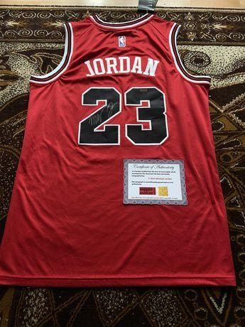 Koszulka Michael Jordan oryginalny autograf Certyfikat