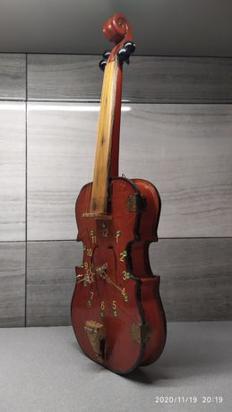 Zegar skrzypce otwierane