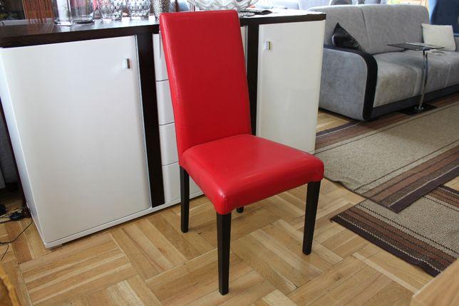 Krzesła czerwona skóra eko MONTEGO dostępne 6 szt