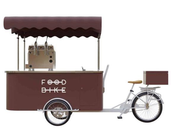 Rower do kawy | Trójkołowa riksza gastronomiczna | Nowa | FVAT |