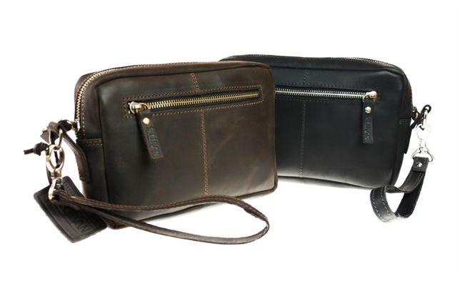Кожаная мужская сумка клатч натуральная кожа ручная работа sullivan