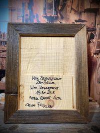 Drewniana ramka z starego drewna Loft 25x31 cm