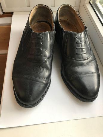 Военные черные кожаные мужские туфли