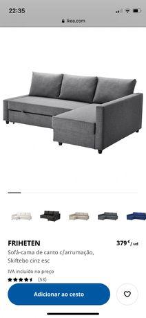 Sofá cama FRIHETEN IKEA - cinza escuro