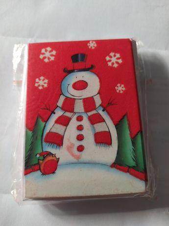 Conjunto de 9 postais pequenos de Natal + envelopes