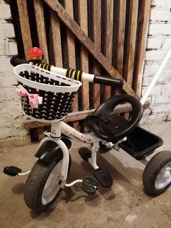 Rowerek dla dziewczynki trójkołowiec pchacz prowadnik 2-3 lata