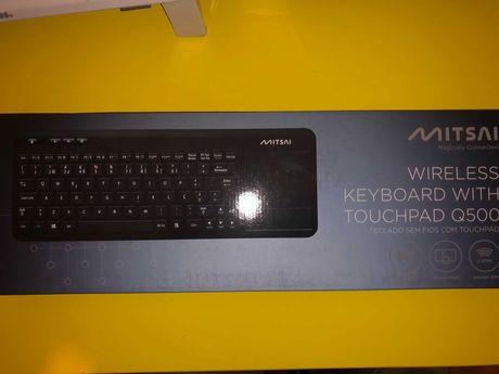 Teclado Wireless Mitsai com Touchpad Q500