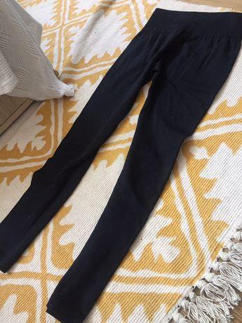 Użyte kilka razy ocieplane legginsy L 40 czarne rajstopy kalesony