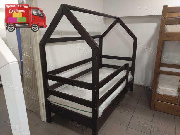Домик Кровать Детская Подростковая из Дерева/ Кроватка Деревянная Дом