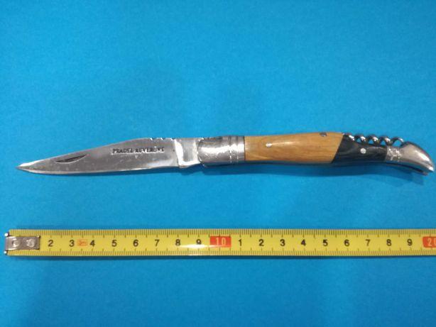 """Canivete de Coleção """"Pradel Auvergne""""  c/ Saca Rolhas e Cabo Madeira"""