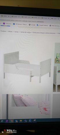 Cama IKEA como nova com estrado e colchão extensivel