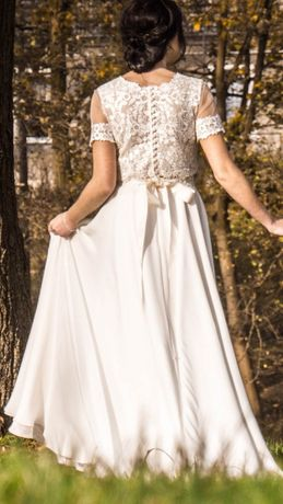 Zjawiskowa Suknia ślubna dwuczęściowa firmy GALA UNICA