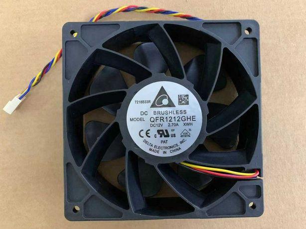 6000-RPM 210-CFM Ventoinha Fan Delta Brushless 120mm QFR1212GHE - NOVO