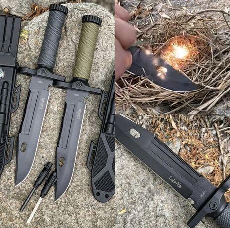 Код № 215 Нож + Огниво/ Охотничий/Columbia/Мисливський ніж/