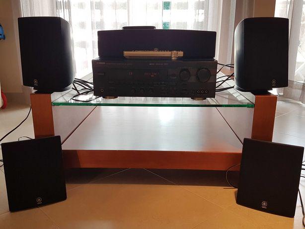 Receiver Yamaha RX-V595RDS + Colunas 5.1 (Cinema DSP Digital)