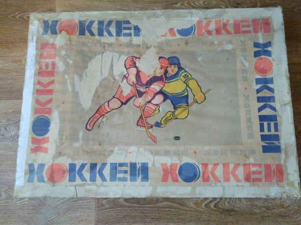 Настольная игра хоккей времён СССР.