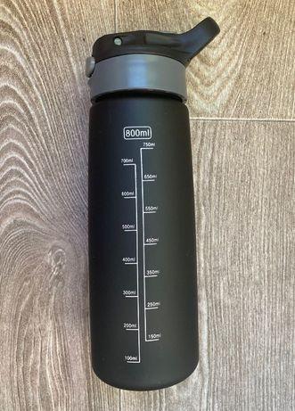Спортивная Бутылка для Воды, Фляга, Шейкер - Черная