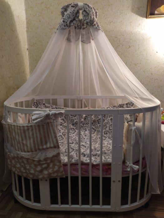 Кроватка круглая+овальная+текстиль+ подарок. Николаев Жовтневый - изображение 1