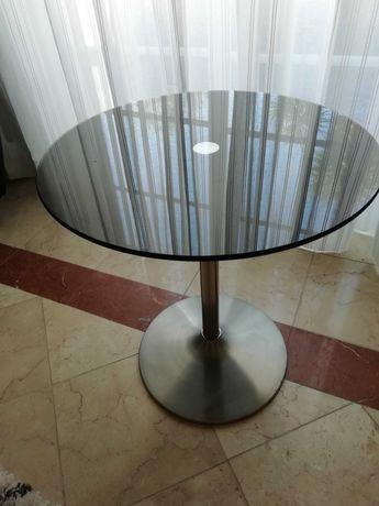 Mesa de apoio tampo de vidro