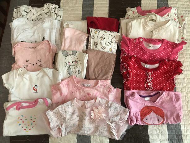 Пакет 20 вещей на девочку 3-6 месяцев  размер 62-68