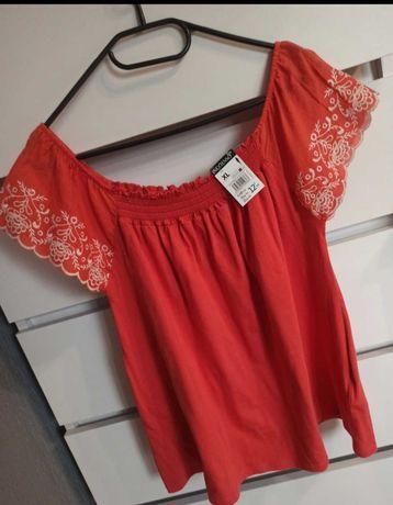 Hiszpanka bluzka czerwona haft nowa
