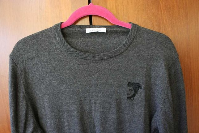 Мужской свитер Versace шерсть размер L \ XL оригинал