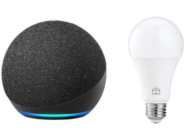 Vendo e envio grátis! Echo dot 4 gr + lâmpada inteligente Amazon alexa
