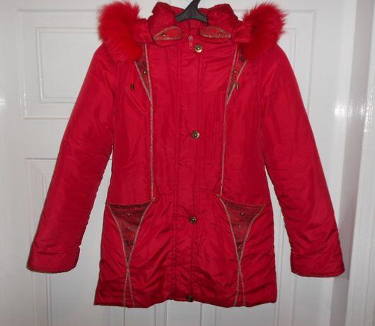 Детское демисезонное пальто для девочки 7-12 лет