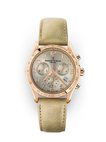 Швейцарские НОВЫЕ!!! Bernhard H. Mayer irish chronograph watch-rose go