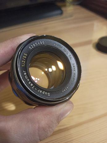 Obiektyw Super-Takumar 55mm f2.0 (1:2/55), M42, Ashai Opt. Co.