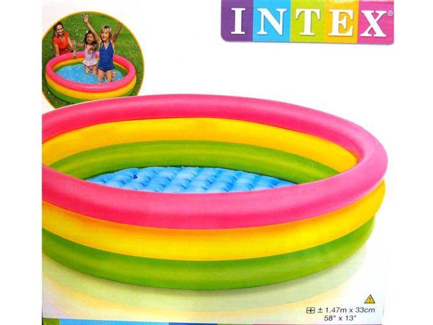 Бассейн надувной Радуга 1 м 47 см INTEX
