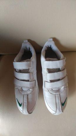 Buty Nike sportowe adidasy na rzepy białe zielone 38