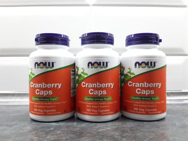 Now Foods, Cranberry Caps (100 капс.), клюква + витамин С, журавлина