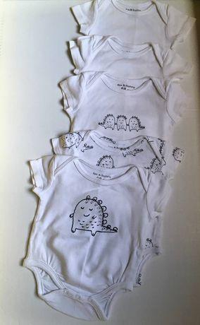 Боди на малыша(унисекс) 62-74 см, бодики, набор или поштучно, хит, топ