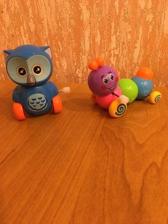 Заводные игрушки, гусеница, сова