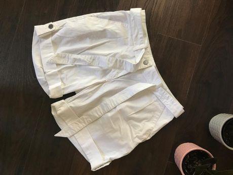 Krótkie białe spodnie, spodenki - Tchibo TCM - rozmiar 36/38 - nowe